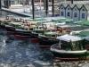 Hamburg Hafen Barkassen im Eis