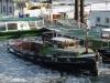Hamburg Hafen Barkasse im Eis
