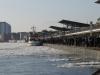 Hafen Hamburg die Landungsbrücken im Eis
