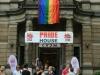 Der Eingang zum Pride House Hamburg (c) Hamburg Pride