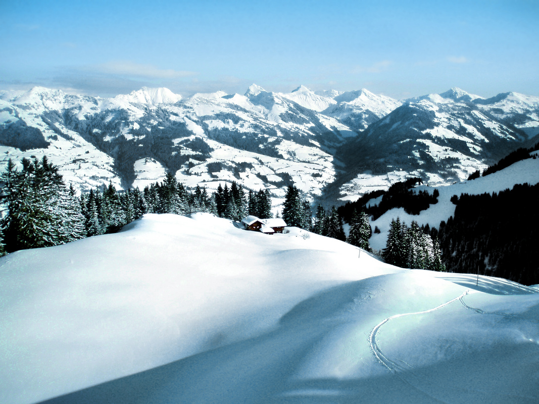 Alpen im Winter