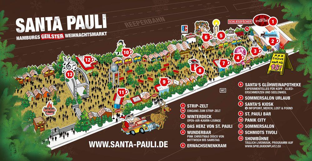Der Santa Pauli Weihnachtsmarkt