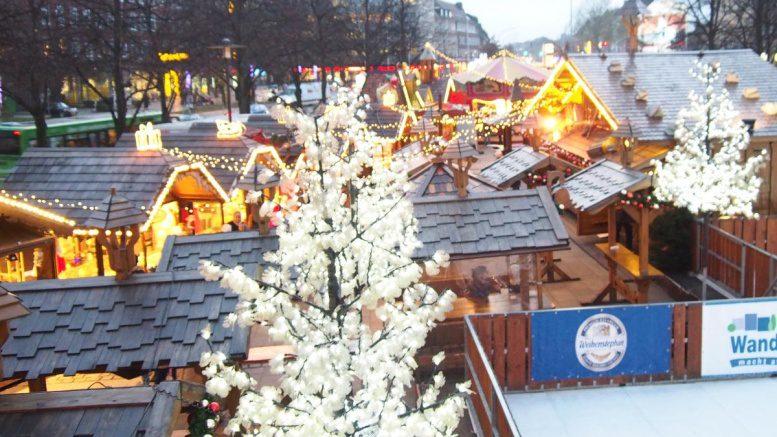 Blick auf den Weihnachtsmarkt in Wandsbek