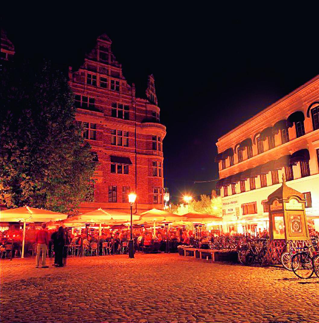 Nachtszene in Malmö