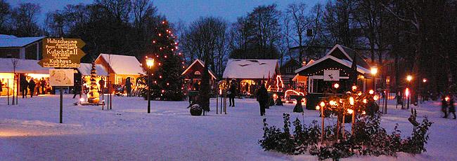 Gut Pronstorf bei Hamburg - Ansicht auf den Weihnachtsmarkt