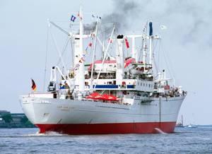 Cap San Diego Hamburg auf der Elbe