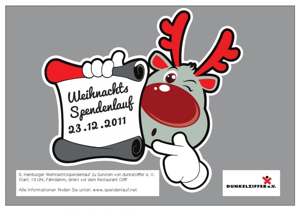 Plakat für den Weihnachtsspendenlauf 2011