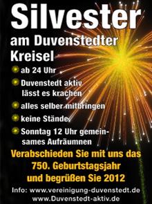 Duvenstedt Plakat Sylvester 2011