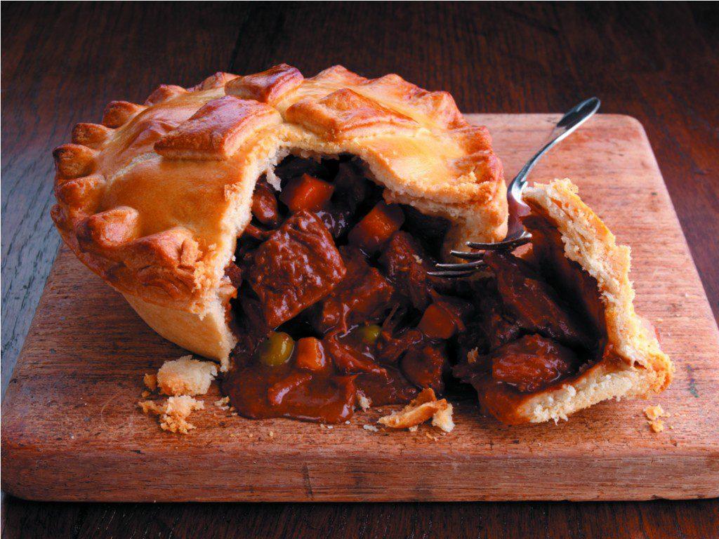 Das irische Nationalgericht Roast Beef Pastete