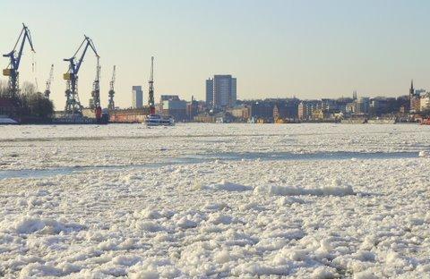 Packeis auf der Elbe Februar 2012