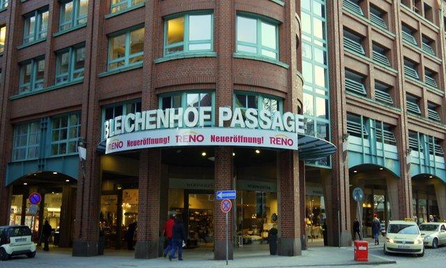 Bleichenhof Passage Hamburg der Eingang