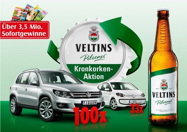 VELTINS Kronkorken-Aktion 2012 - Hamburg - das Original startet in die dritte Runde(c) Veltins
