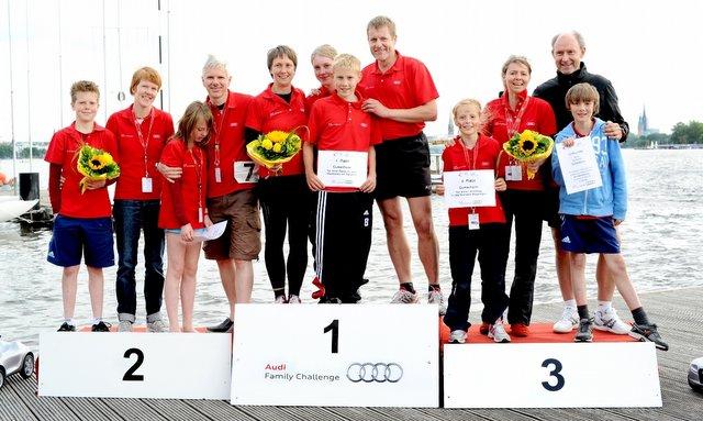 Familie Lenfers aus Norderstedt – Die Nordis - sind Sieger Audi Family Challenge 2012 Hamburg © Hersteller