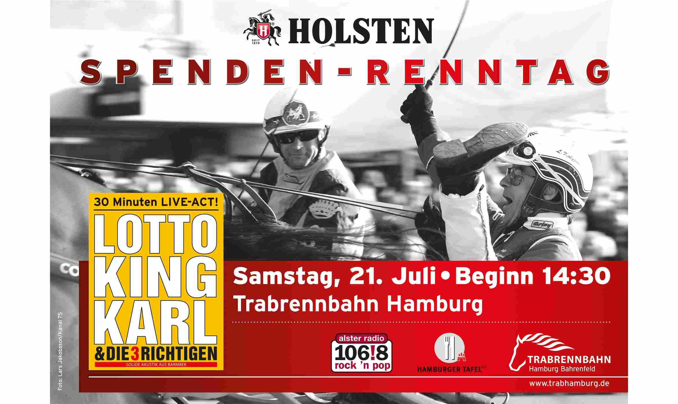 Holsten Spendenrenntag auf der Trabrennbahn Hamburg Bahrenfeld