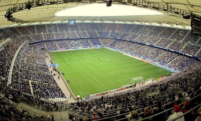 Das Volksparkstadion in Hamburg