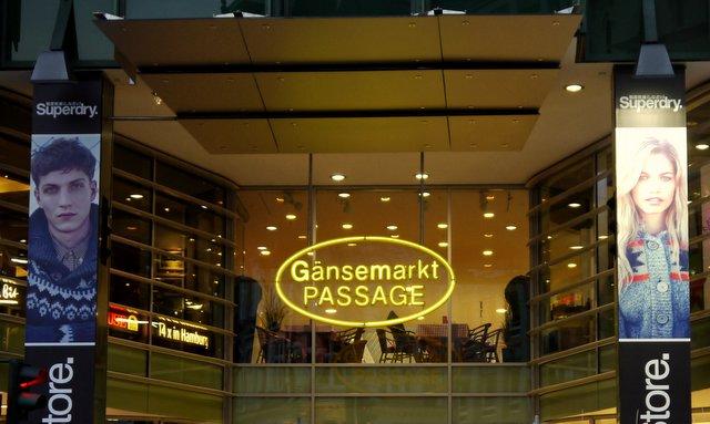 Gänsemarkt PASSAGE Hamburg © ganz-hamburg.de