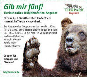 Tierpark Coupon von Hagenbeck