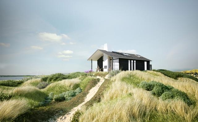 Ein dänisches Ferienhaus in den Dünen