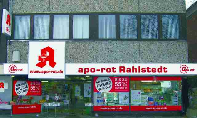 neue apo rot apotheke in hamburg rahlstedt ganz. Black Bedroom Furniture Sets. Home Design Ideas