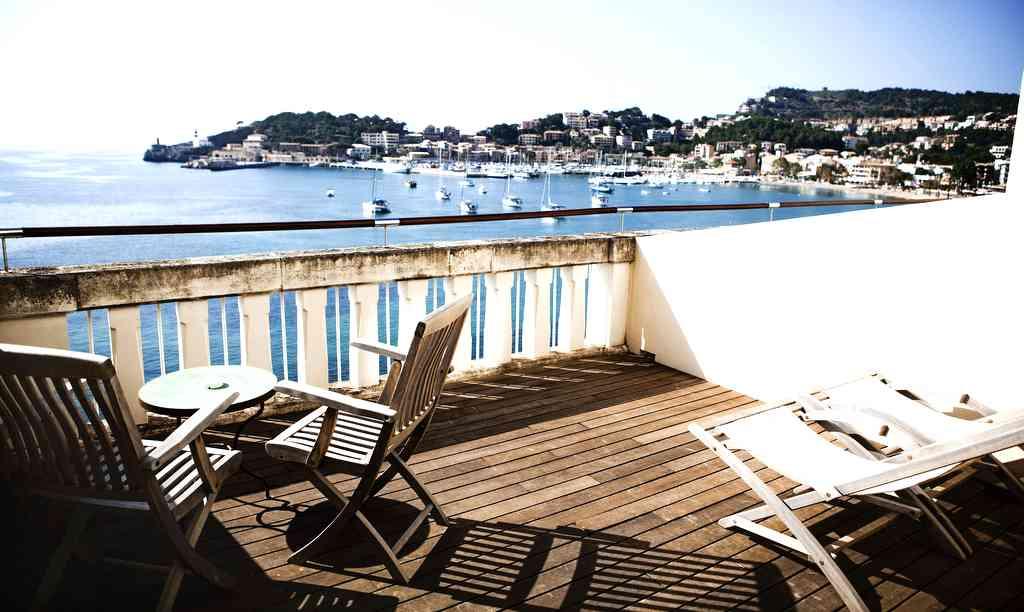 Blick vom Hotel Espléndido in Puerto de Sóller Foto: Hotel