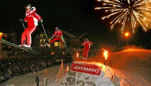 legendären Hüttenspringen der Skilehrer Foto: Hotel