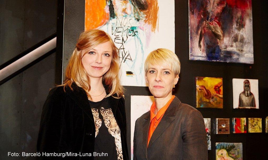 Anna Franke und Berit Gansel von links Foto: Barceló Hamburg/Mira-Luna Bruhn