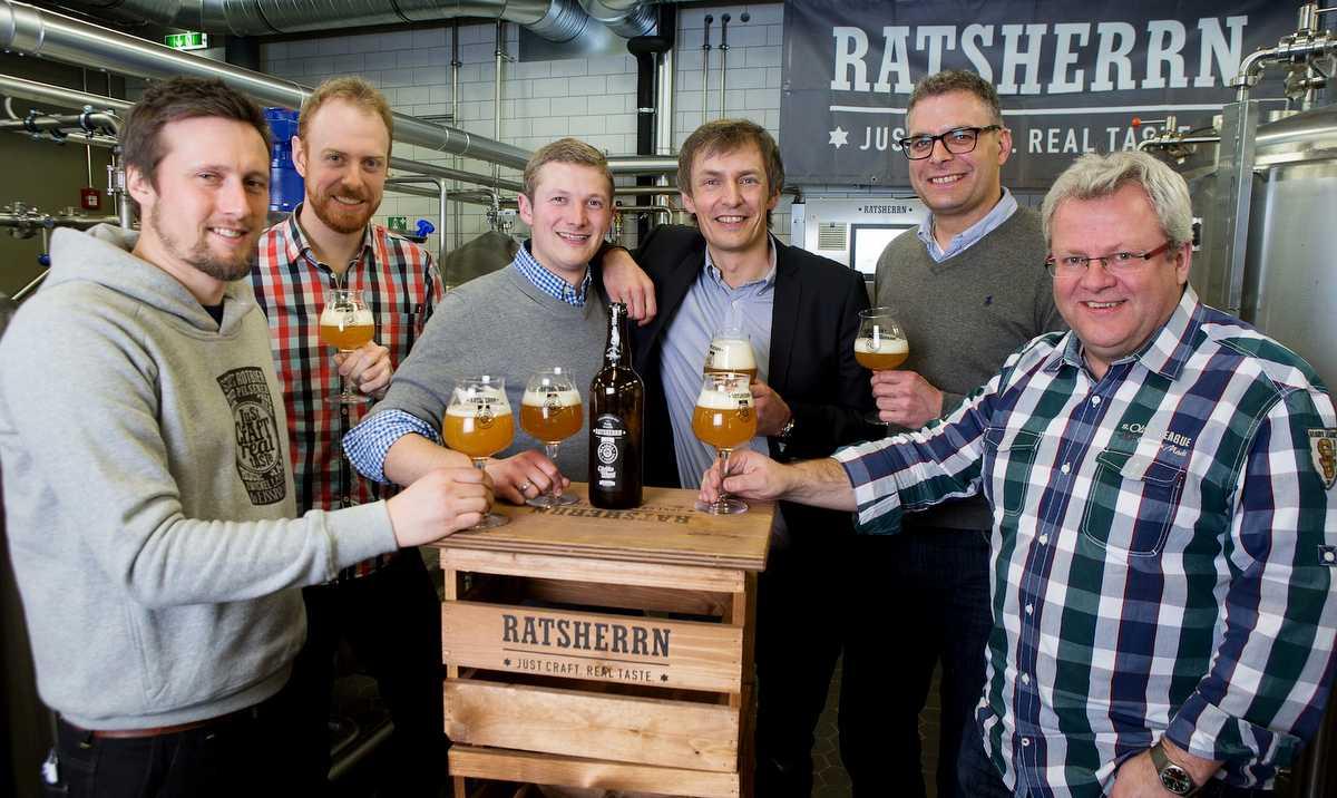 Braukooperation Ratsherrn Brauerei und Maisel & Friends brauten zusammen das Citrilla Wheat © H. Angerer