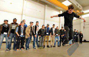 Beatboy Delles zeigt sein Können beim Workshop von Praktisch gut