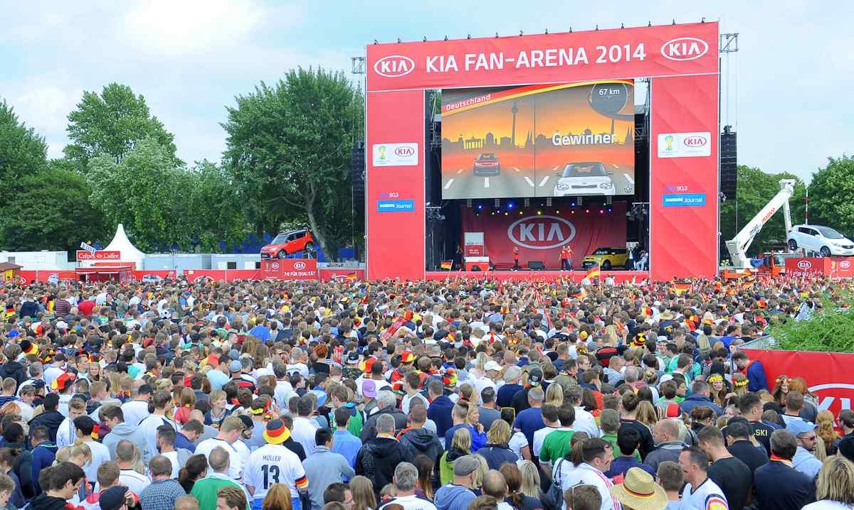 Public Viewing zur Fußball WM 2014 Foto: Veranstalter