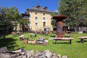 Chesa Salis Garten Foto: Hotel