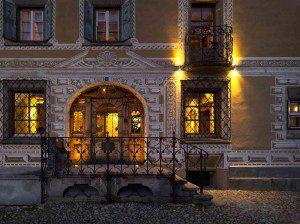 Chesa Salis Eingang Foto: Hotel