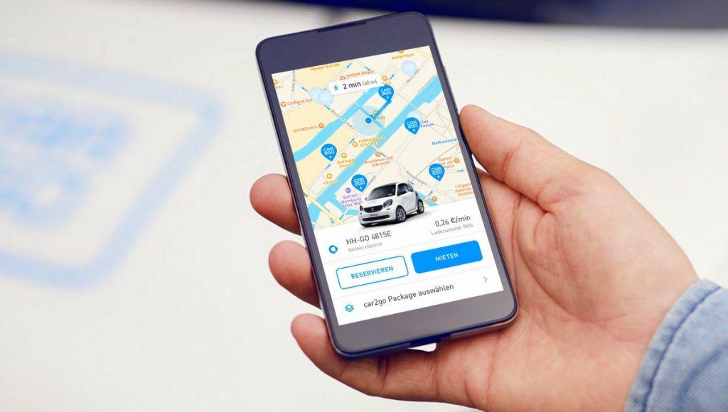 Car to go auf dem Smartphone