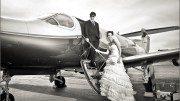 Hochzeit über den Wolken