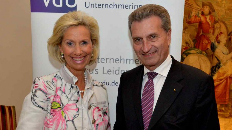 Kristina Tröger mit Günther Oettinger