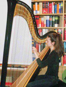 Die Harfenistin Louise Grandjean