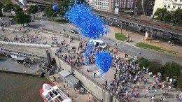 3000 HSV Ballone Landungsbrücken