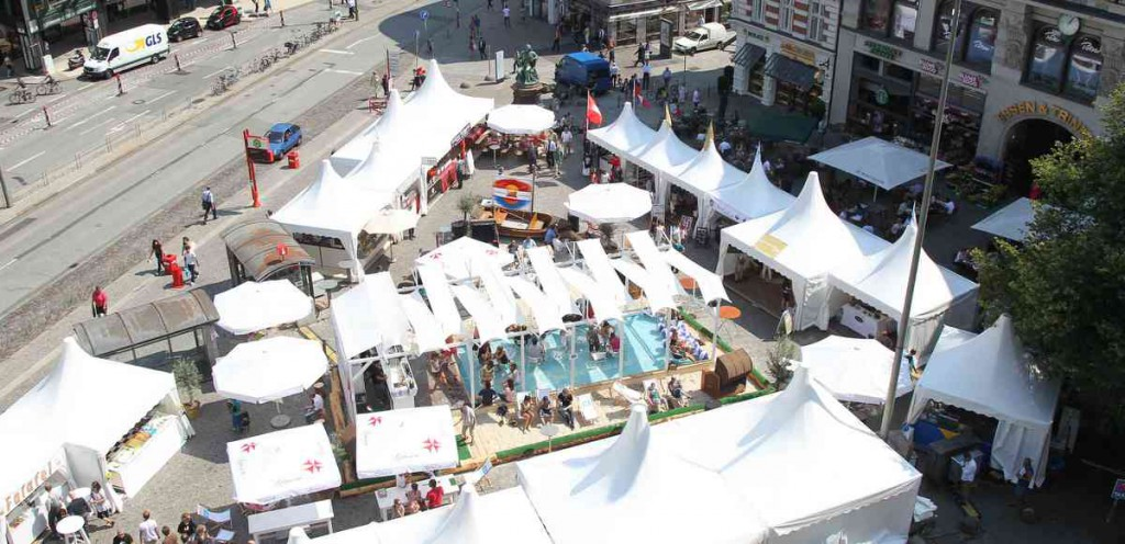 SummerCity der Beach Club auf dem Gänsemarkt