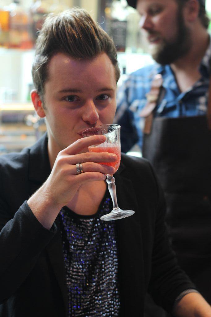 Fertiger Cocktails wird probiert :)