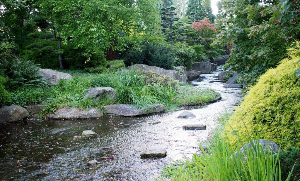 Impressionen aus dem planten un blomen Park in Hamburg - Bachlauf
