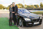 Anna Hofbauer und Marvin Albrecht (step out) kamen im BMW-Shuttle