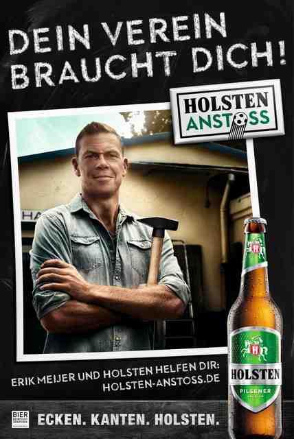Kampagnenmotiv Holsten Anstoss