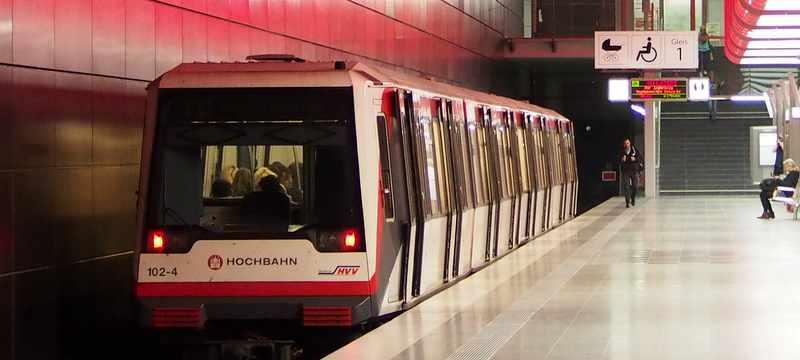 Mobil in Hamburg - U-Bahnzug Hamburg