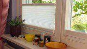Plissee in der Küche