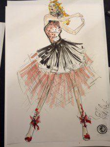 Modezeichnung Ella Deck