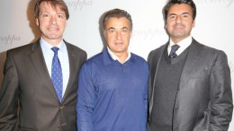 Thomas Schnädter (CEO Montegrappa Northern Europe), Jean Alesi (Shareholder), Giuseppe Aquila (CEO Montegrappa)