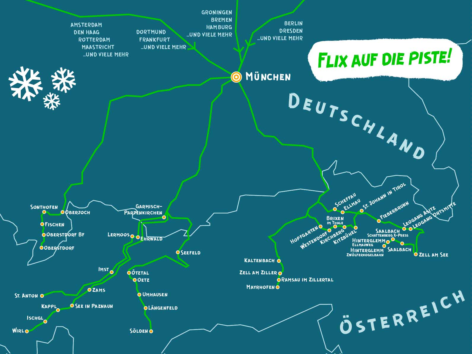 MeinFernbus FlixBus Bus-Wintersportnetz