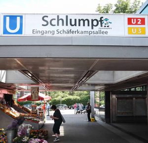 U-Bahnstation Schlumpf in Hamburg