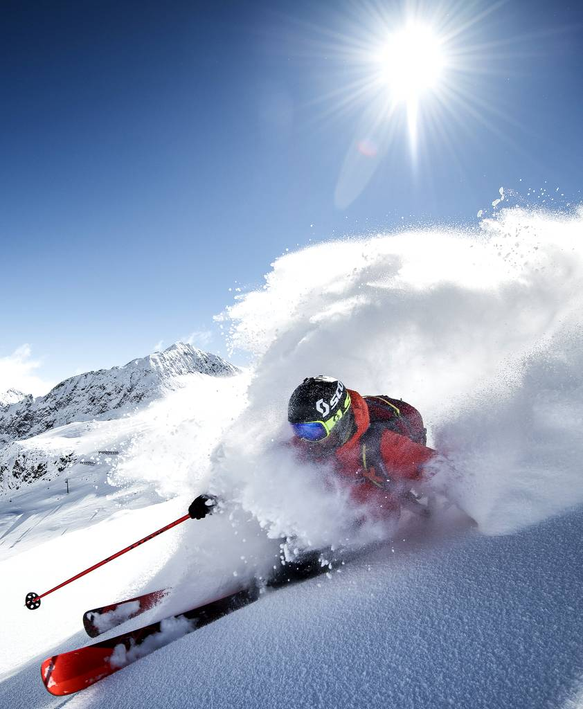 Powder Skiing Stubaital