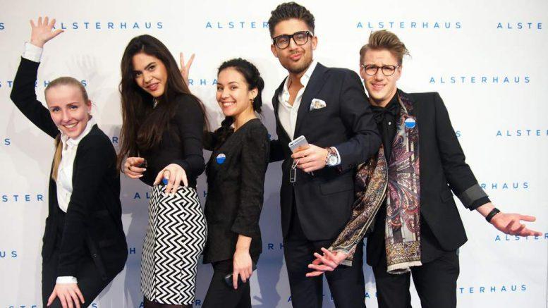 Die Alsterhaus Crew bei der Eröffnung Alsterhaus Luxury Hall