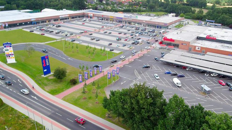 Shopping Center Ohland-Park aus der Luft